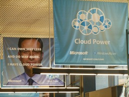 Reclame Cloud computing op Seattle airport