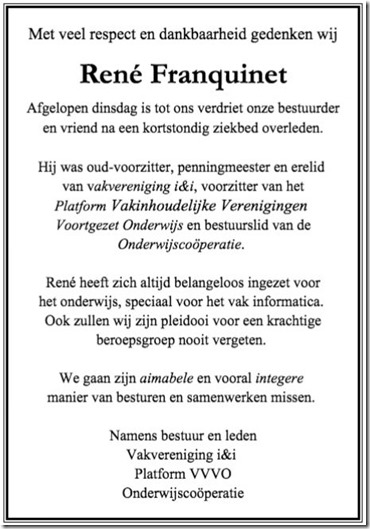 2017-0207 RENE FRANQUINET rouwadvertentie